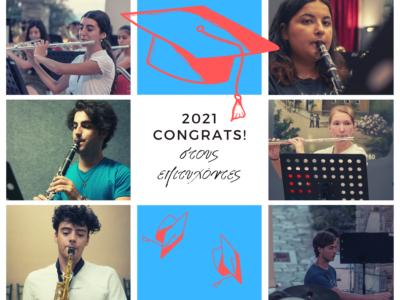 Συγχαρητήρια της Φιλαρμονικής στους επιτυχόντες των πανελληνίων!